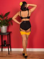 Seamed Stockings - Nutmeg/Mustard